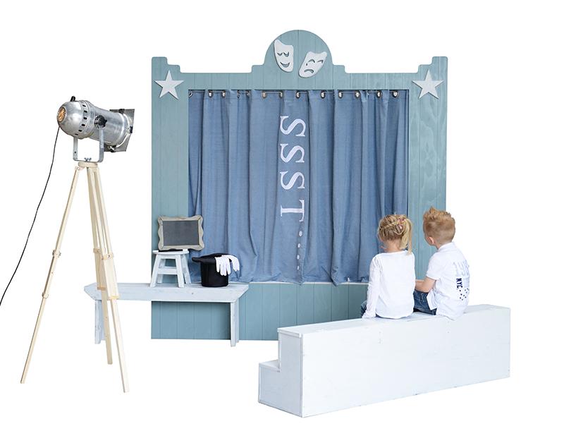 slaapkamer idee voor kinderen het theater bed van Knuzi ...