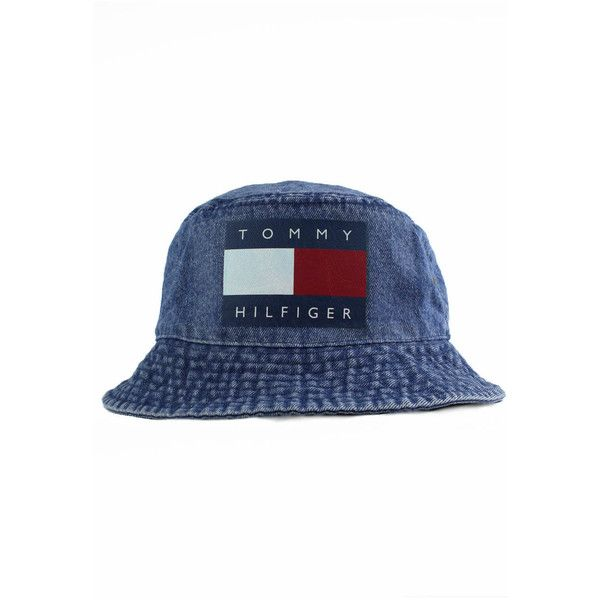 9c534433d8b Vintage Tommy Hilfiger Bucket Hat ( 30) ❤ liked on Polyvore featuring  accessories