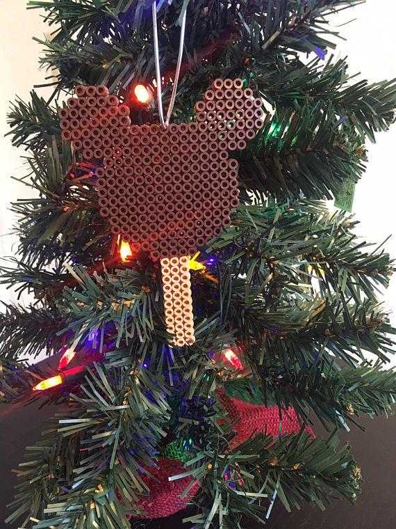 Disneyland Mickey Ice Cream Christmas Tree Ornament Perler