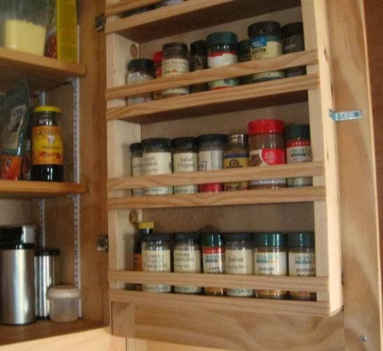 Spice Rack For Kitchen Cabinets: Custom Touch For Do-It-Yourself Cabinets: A Built-in Spice