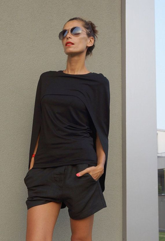 b33df16156789a Gorgeous Viscose Extravagant Black Tunic Top / Loose Blouse call it  Addicted Both so perfect for everyday wear or so sexy and fashion in a  party.