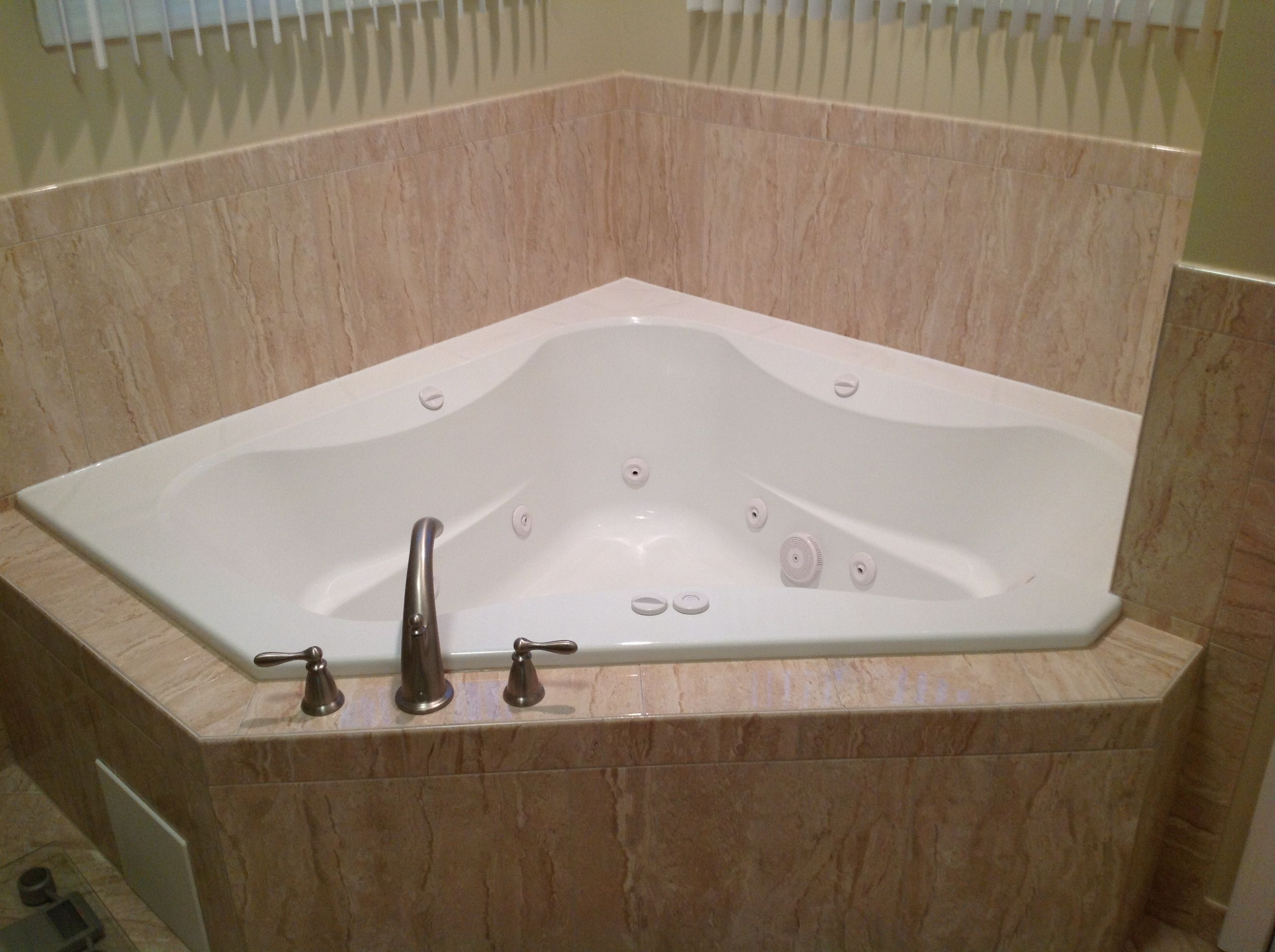 New corner jacuzzi instead of corner soaking tub | Our new Master ...