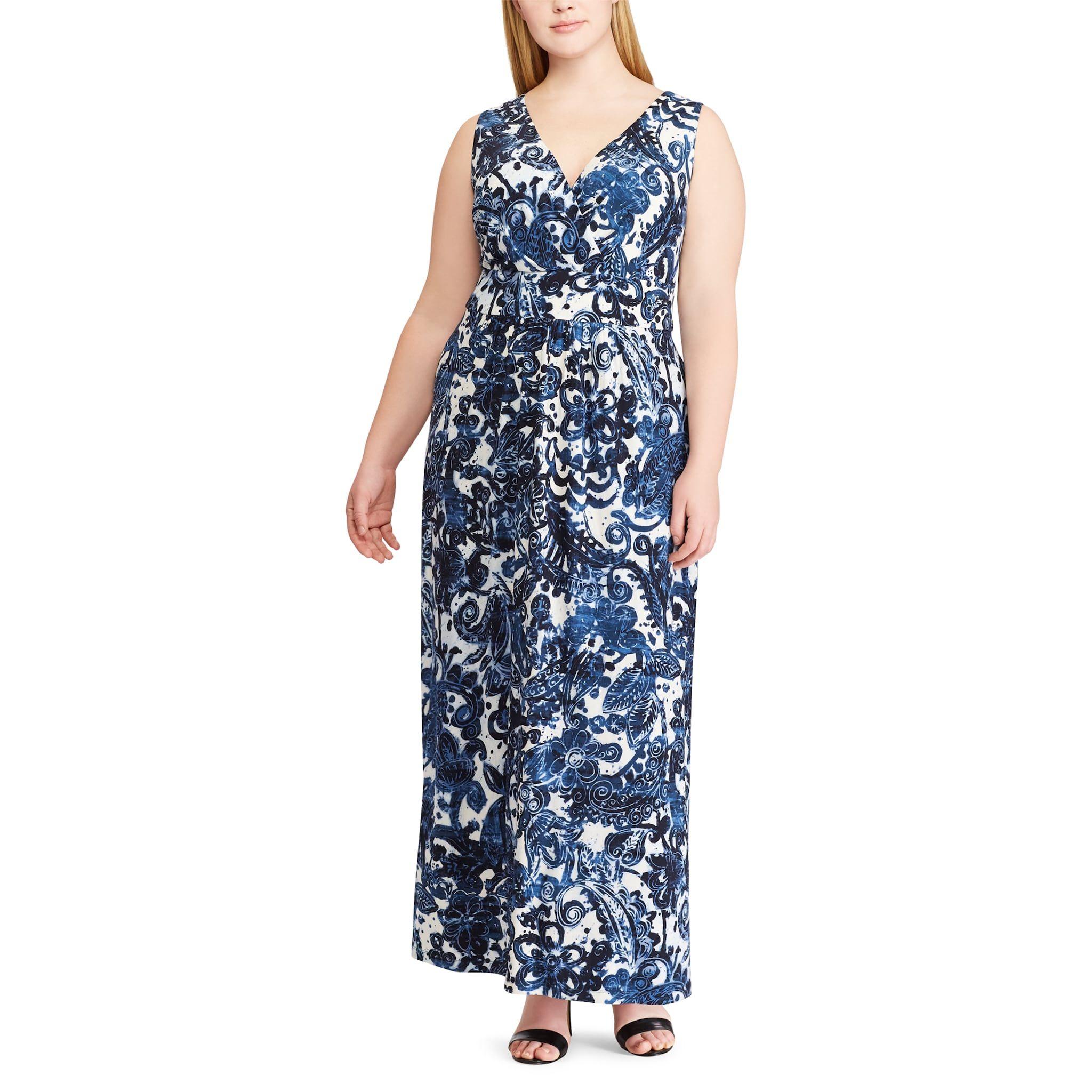 Plus Size Chaps Paisley Maxi Dress Empire Maxi Dress Paisley Maxi Dress Maxi Jersey Dress [ 2048 x 2048 Pixel ]