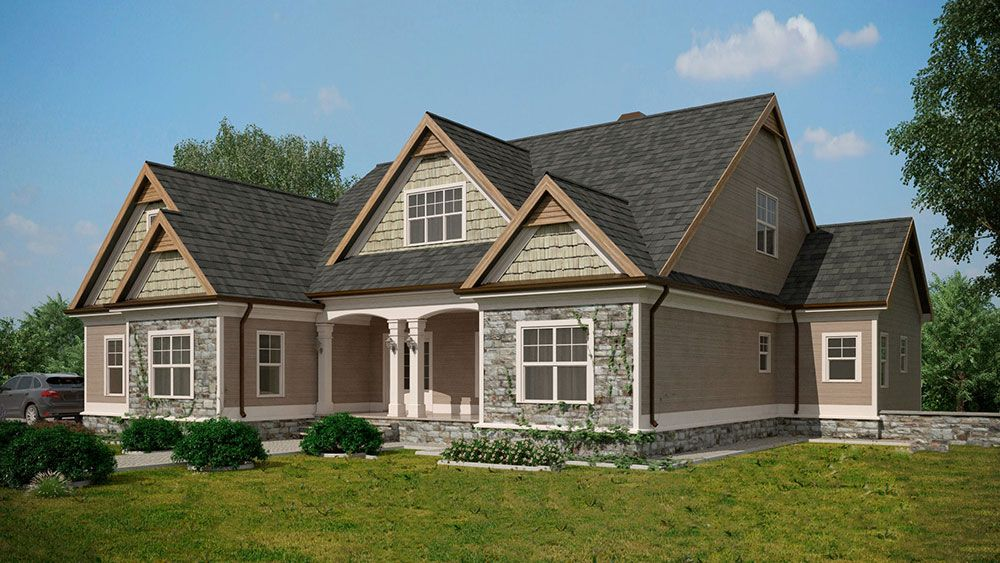 Craftsman Style Lake House Plan With Walkout Basement Lake House