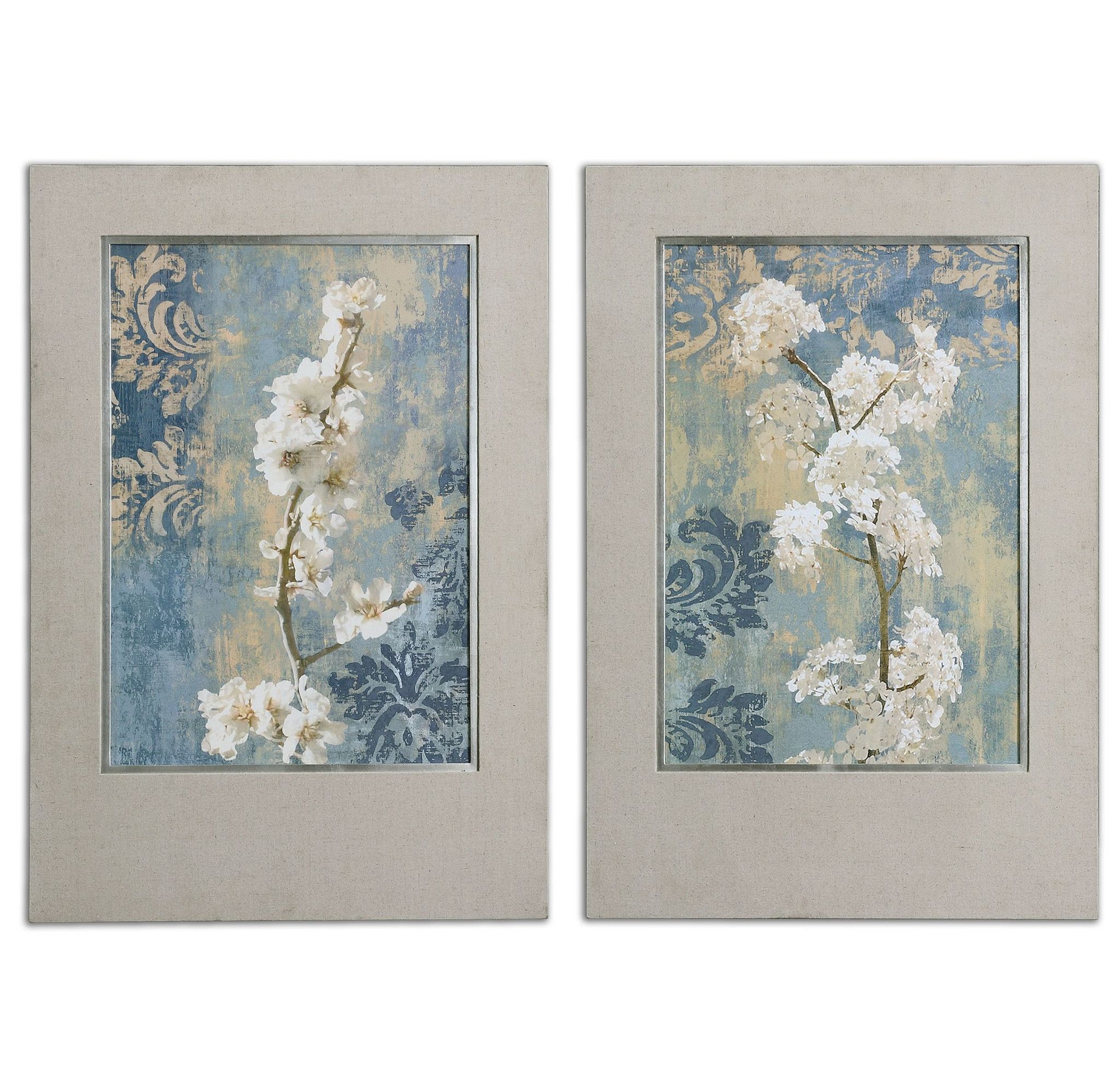 Blossoms Framed Art Set Of 2