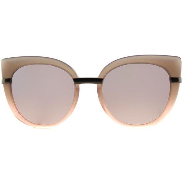 5ee162c4d58 Marc by Marc Jacobs MMJ 489 LQX Grey Peach Cat-Eye Plastic Sunglasses ( 110