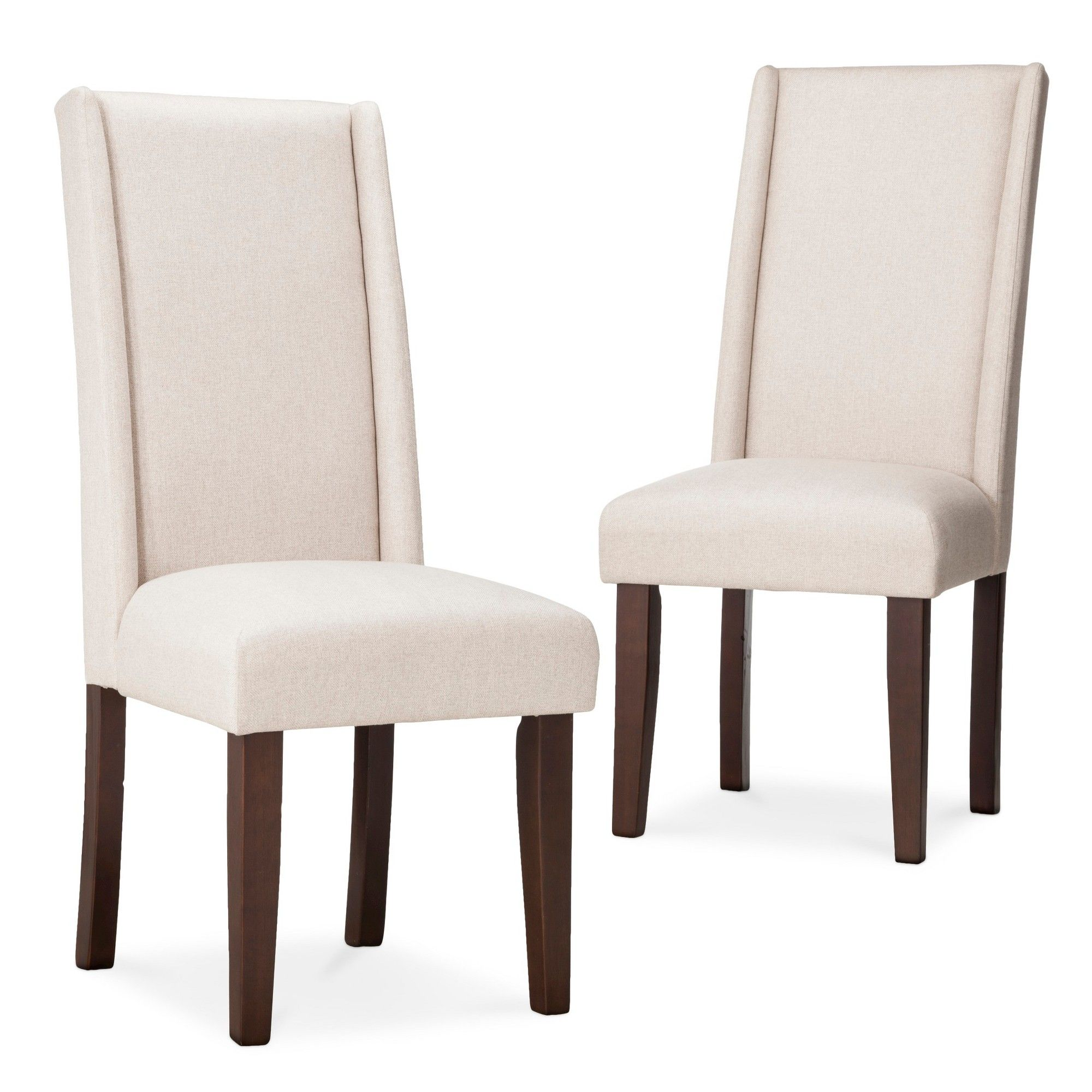 Charlie Modern Wingback Dining Chair Beige