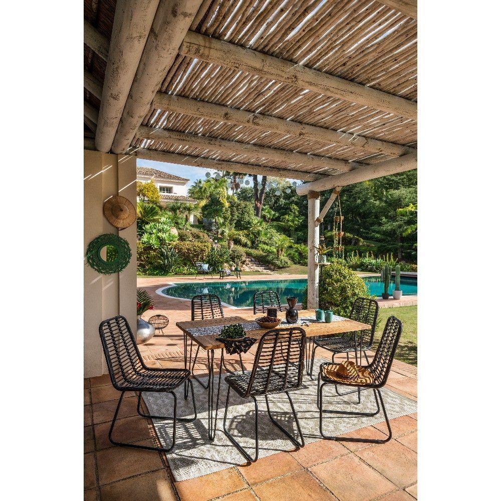 Chaise Et Banc De Jardin Avec Images Table De Jardin Table De Jardin Gifi Table Basse Jardin