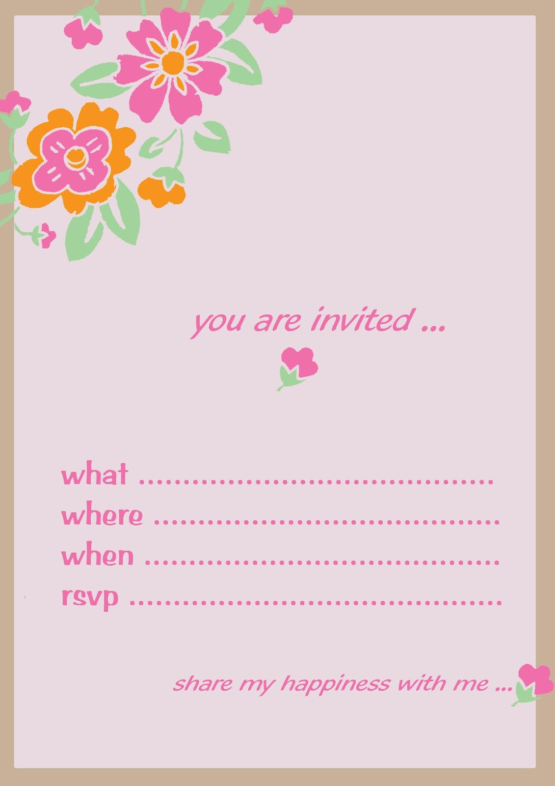 Birthday Invitation Card Design Template Free | neha | Pinterest ...
