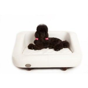 White Richmond Pet Bed Dog Bed Leather Dog Bed Waterproof Dog Bed