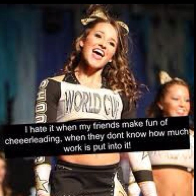 what i hated about cheerleading What are your thoughts about cheerleading and children what are your thoughts about cheerleading we both hated the drama with some girls and many moms.