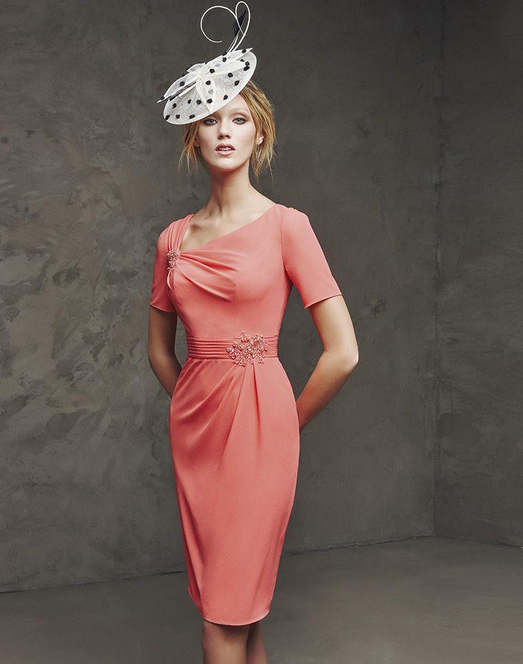 Vestido de fiesta coral | moda | Pinterest | Fiesta coral, Boda de ...