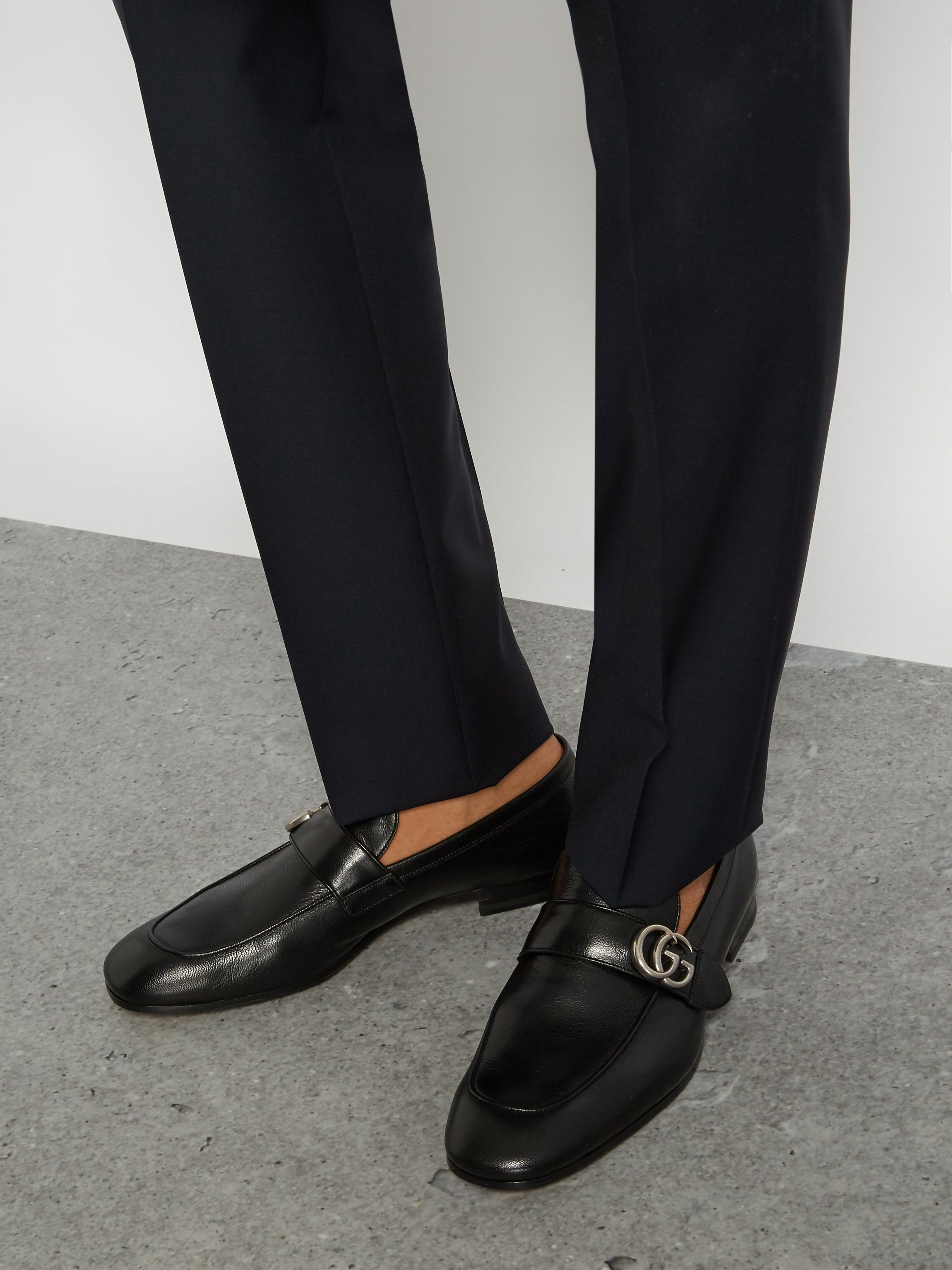 7e7d5ede9 Click here to buy Gucci Donnie GG leather loafers at MATCHESFASHION.COM