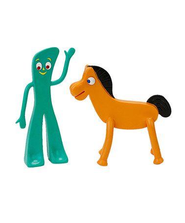 Love this Retro Gumby & Pokey Figure Set on #zulily! #zulilyfinds