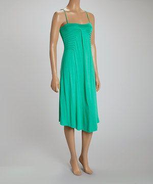 Look at this #zulilyfind! Green Sleeveless Ruffle Dress by Madison Paige #zulilyfinds