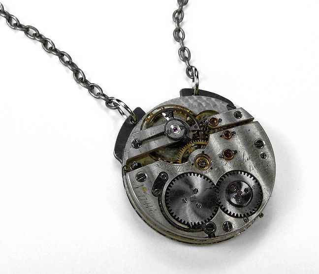 Antique pocket watch pendant necklace tattoo ideas pinterest antique pocket watch pendant necklace aloadofball Gallery