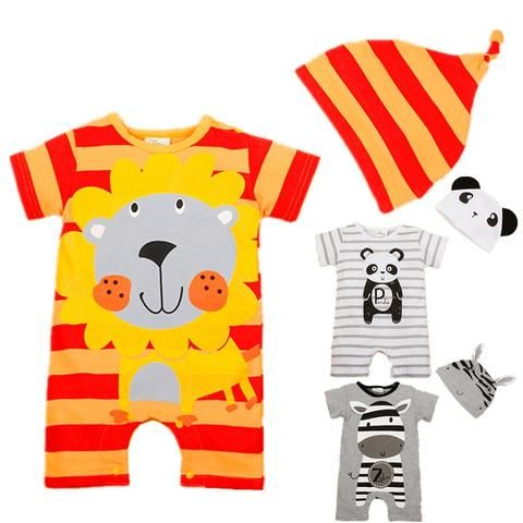 81f5bccca62e Baby Rompers 2017 Summer Baby Girl Clothing Sets Cartoon Baby Boys Clothes  Newborn Baby Clothes Roupas