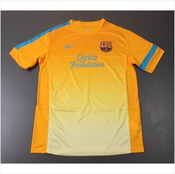 Mens 2012 13 FC Barcelona Yellow White Soccer Trainning Jersey on eBid  United States 6bebafe2f