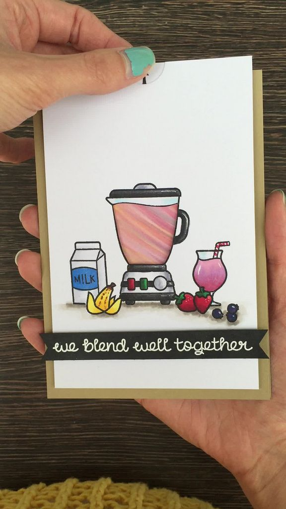 smooth blend  lawn fawn cards interactive cards diy