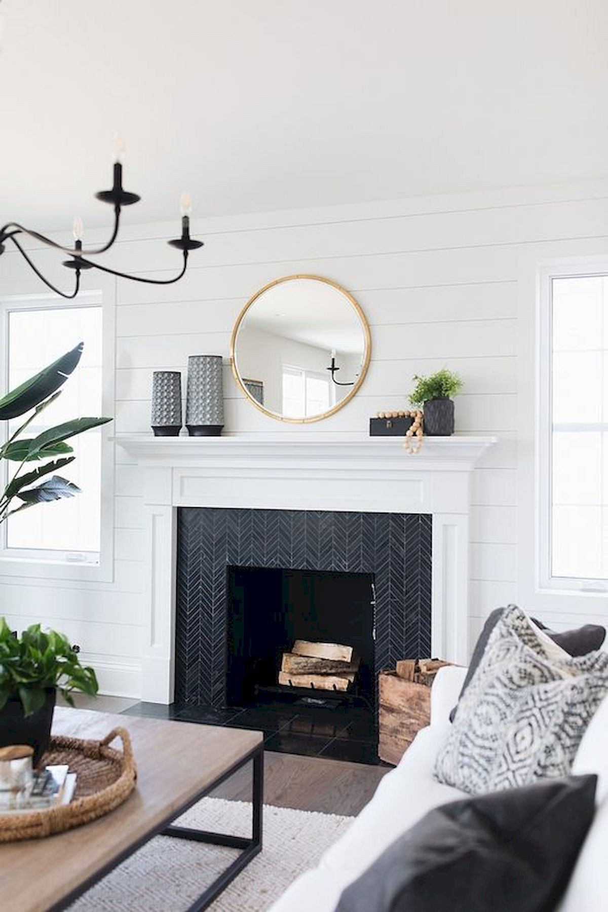 40 Best Modern Farmhouse Fireplace Mantel Decor Ideas 29 Farm House Living Room Fireplace Mantel Designs Farmhouse Fireplace Mantels