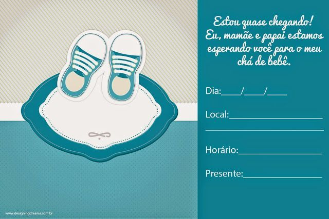 Convites Para Cha De Bebe Editaveis Gratis Para Baixar Editar E