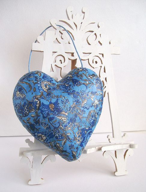 Paper mache heart ornament | Flickr - Photo Sharing!