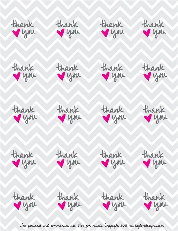 Print Thank You Stickers