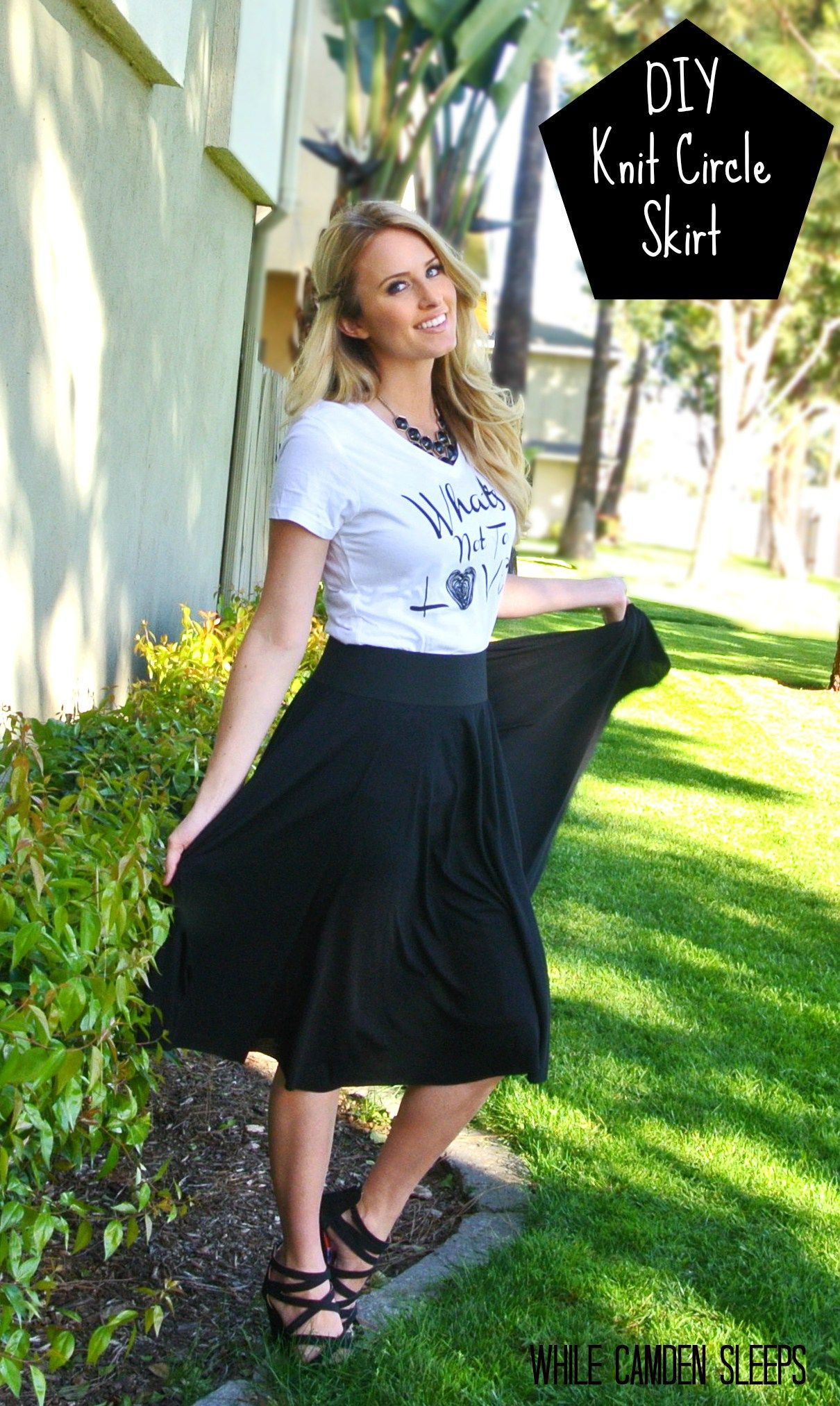 Awesome and clear tutorial on how to make a basic circle skirt awesome and clear tutorial on how to make a basic circle skirt who knew it was this easy didnt use knit fabric chiffon and a lining bankloansurffo Image collections