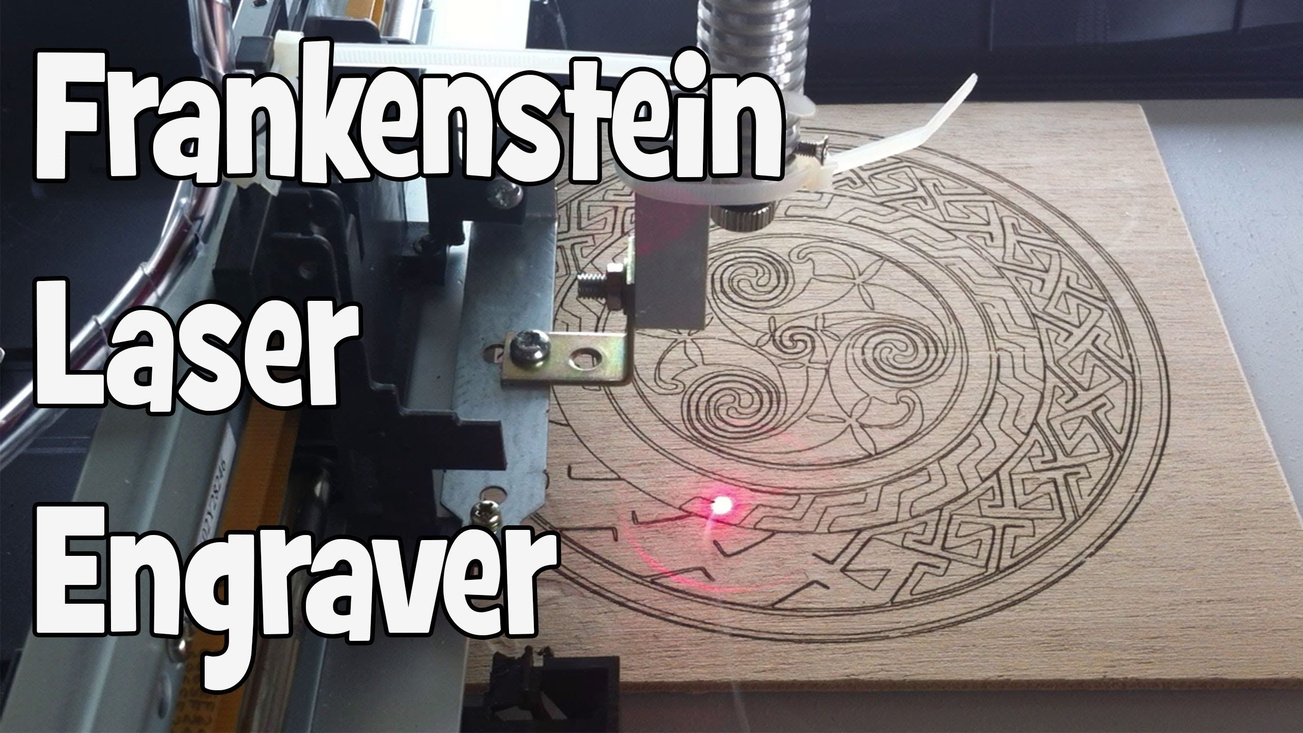 This is a video showing my homemade laser engraver/cutter from trash. Scanner, printer, dvd writer (later replaced the dvd diode with a LPC 826 from Odicforc...