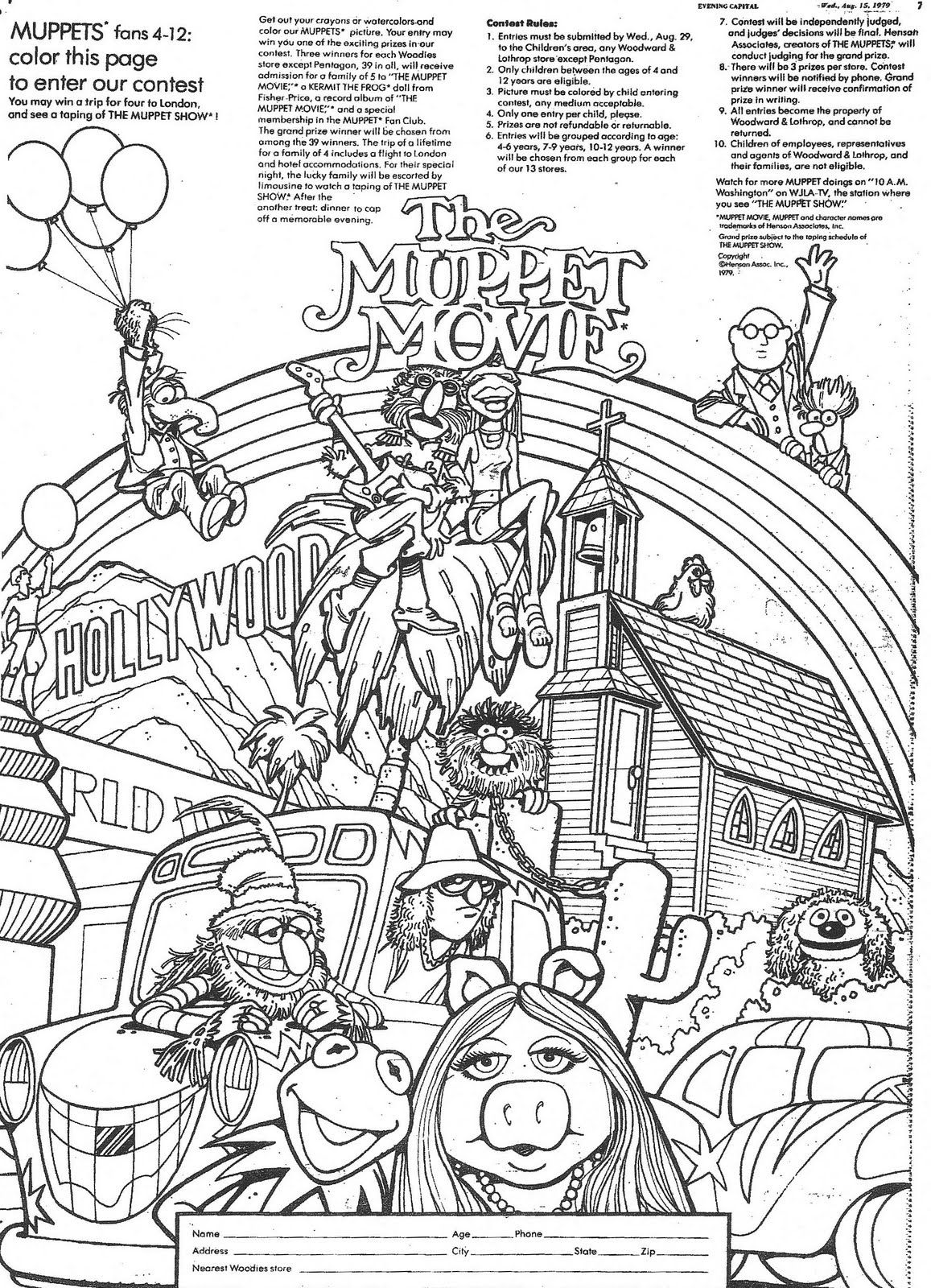 Age 9 coloring pages - Muppet Coloring Pages 47