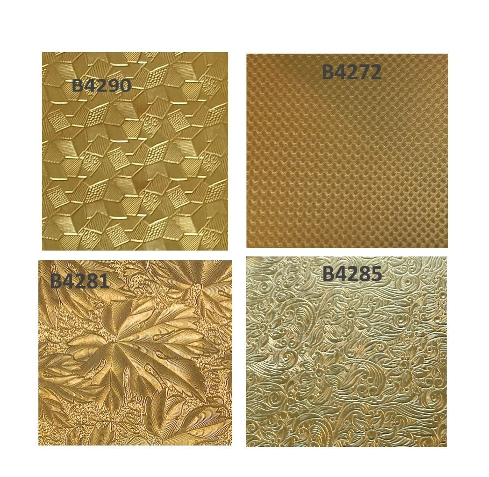 Jewelers Brass Patterned Sheet 2 5 X 6 Or 12 Inches Gauge 24 Half Hard Bare Usa Patterned Sheets Gold Sheets Pattern