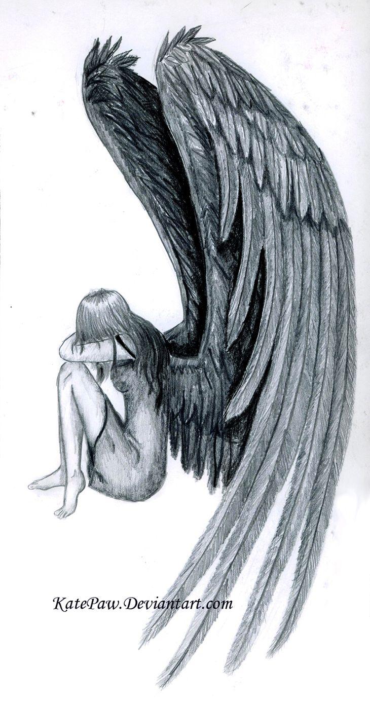 Fallen Angel By Katepaw Deviantart Com On Deviantart With Images
