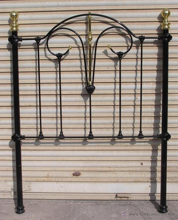 Esplendido cabezal de cama en hierro y laton - Camas antiguas de hierro ...