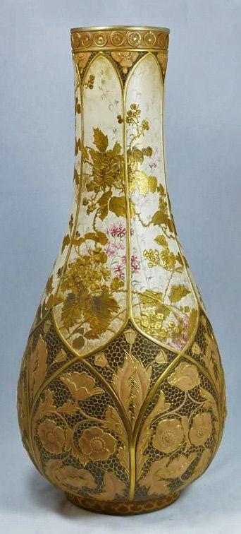 Royal Doulton Art Nouveau Porcelain Vase Circa 18861902 Royal