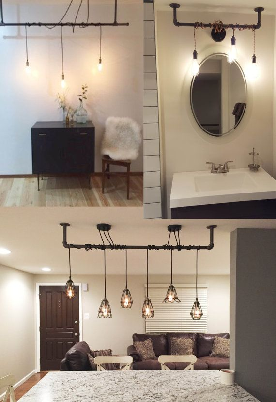 3 Pendant Light Fixture Custom Made To Order See Pictures For Many Available Cord Colors In 2021 Hanging Pendant Lamp Bathroom Light Fixtures Rustic Bathroom Remodel
