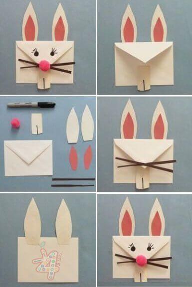 diy envelope easter bunny craft activities pinterest diy
