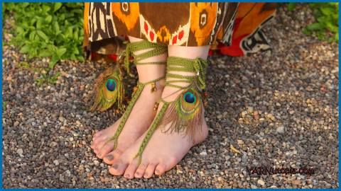 Tribal Sandals | Crochet | Pinterest | Tobilleras