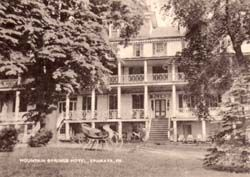 mountain springs hotel ephrata pa post card from the. Black Bedroom Furniture Sets. Home Design Ideas