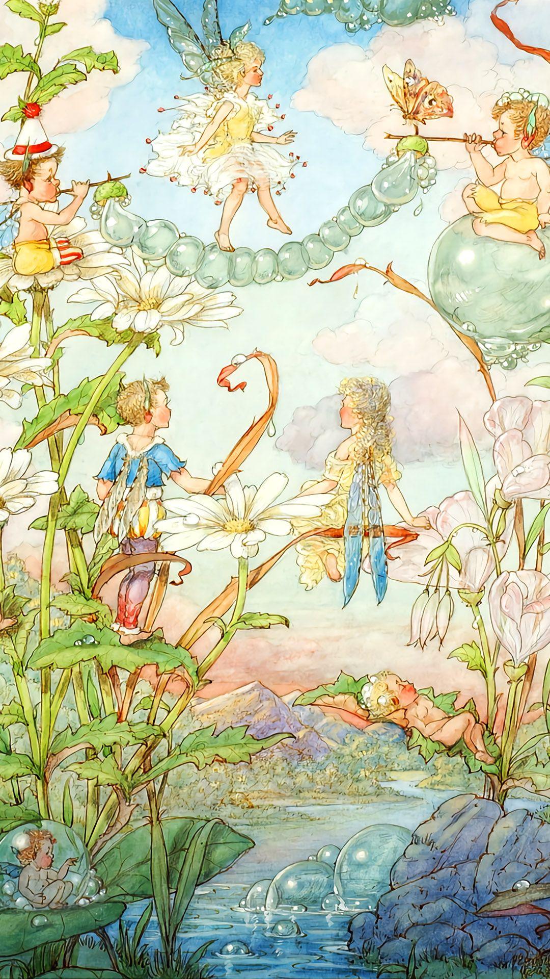 ハロルド ガズ Fairies And Bubbles Harold Gaze 1080 1920 壁紙