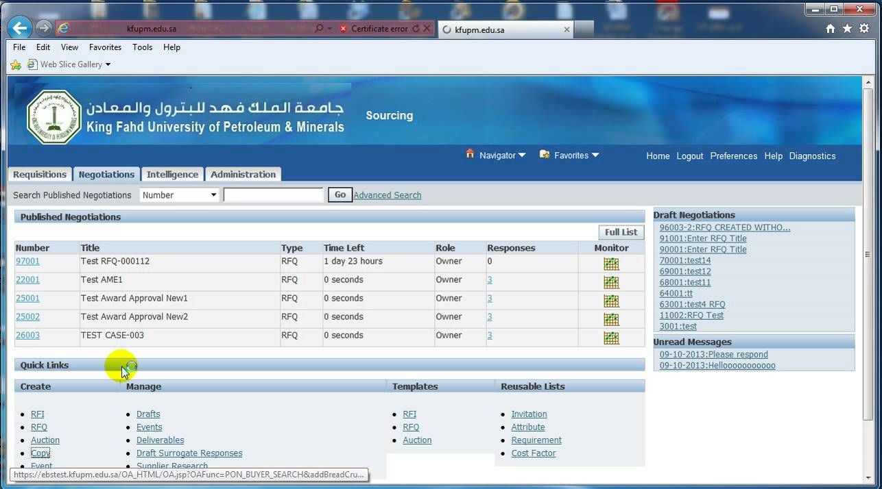 Supplier Quote Rfq Printable View Oracle Sourcing Oracle King Fahd Views