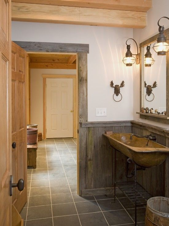 Pietra e legno per il bagno rusticoBagni dal mondo | Un blog sulla ...