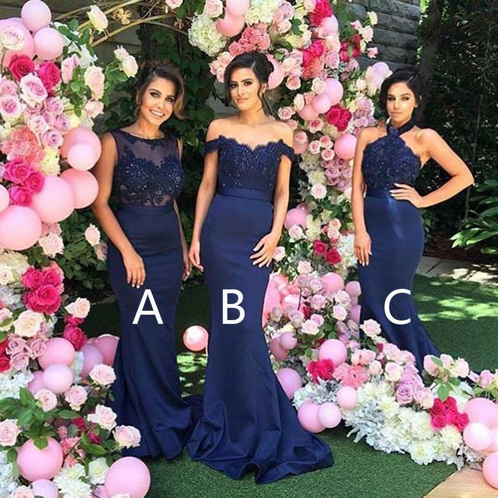 Mismatched sexy different styles mermaid royal blue long mismatched sexy different styles mermaid royal blue long affordable wedding bridesmaid dresses wg127 ombrellifo Image collections
