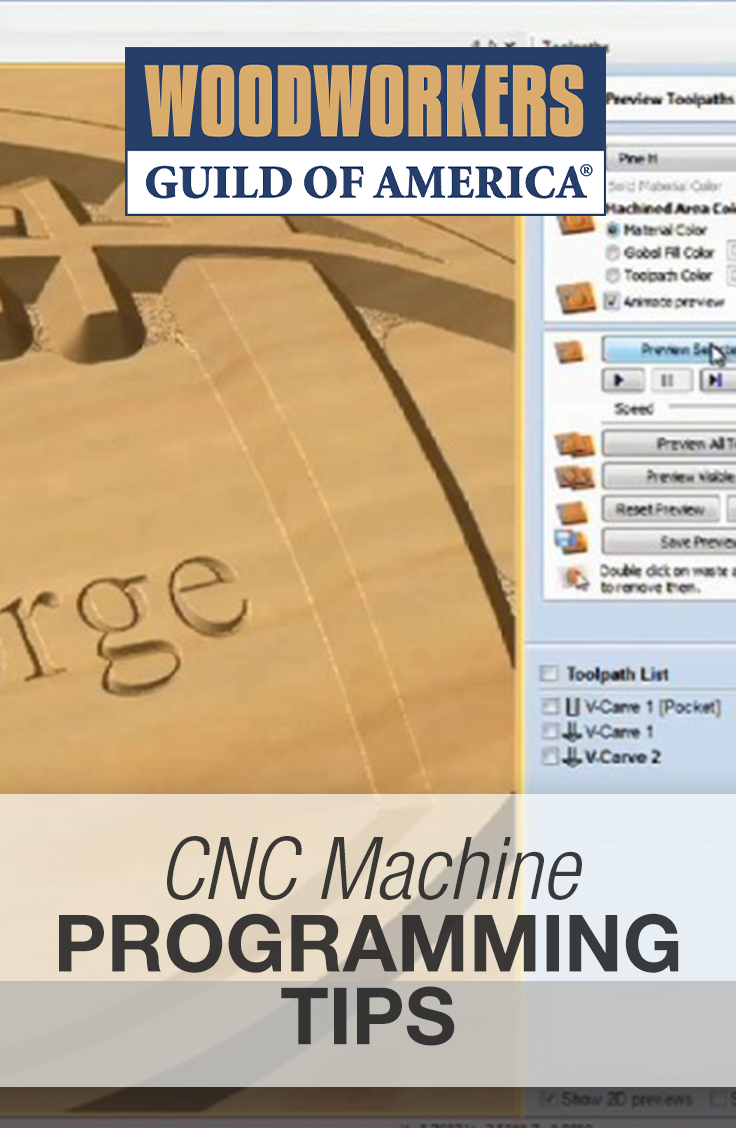 CNC Machine Programming Tips | CNC in 2019 | Woodworking