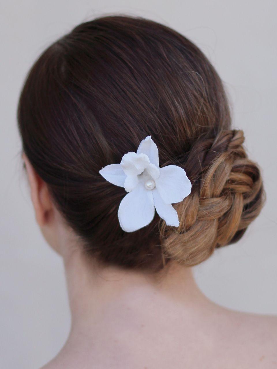 Dendrobium Orchid Hair Pin Blue Orchid Hairpin Wedding Etsy Orchid Hair Pins Wedding Hair Flowers Floral Hair Pins