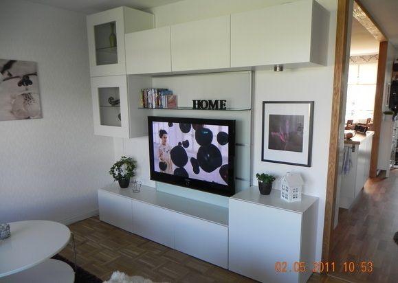 Album - 4 - Banc TV Besta Ikea, réalisations clients (série 1 - Wohnzimmer Ikea Besta