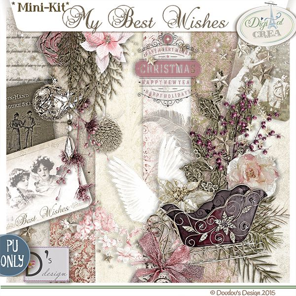 """kit """"My Best Wishes"""" by Doudou's Design FREE until 2016 !!!!! http://bit.ly/1NE3aSy"""