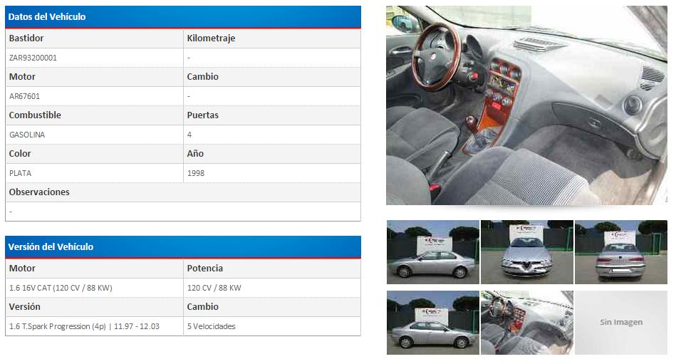 Alfa Romeo 156 116 1 6 T Spark Progression 120 Cv 11 97 12 03 Alfa Romeo Compras Barcelona