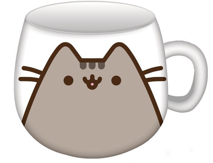 it s more fun having your coffee tea or cocoa when you drink from this charming pusheen mug on one side you see pushe hot chocolate mug chocolate mugs mugs pinterest
