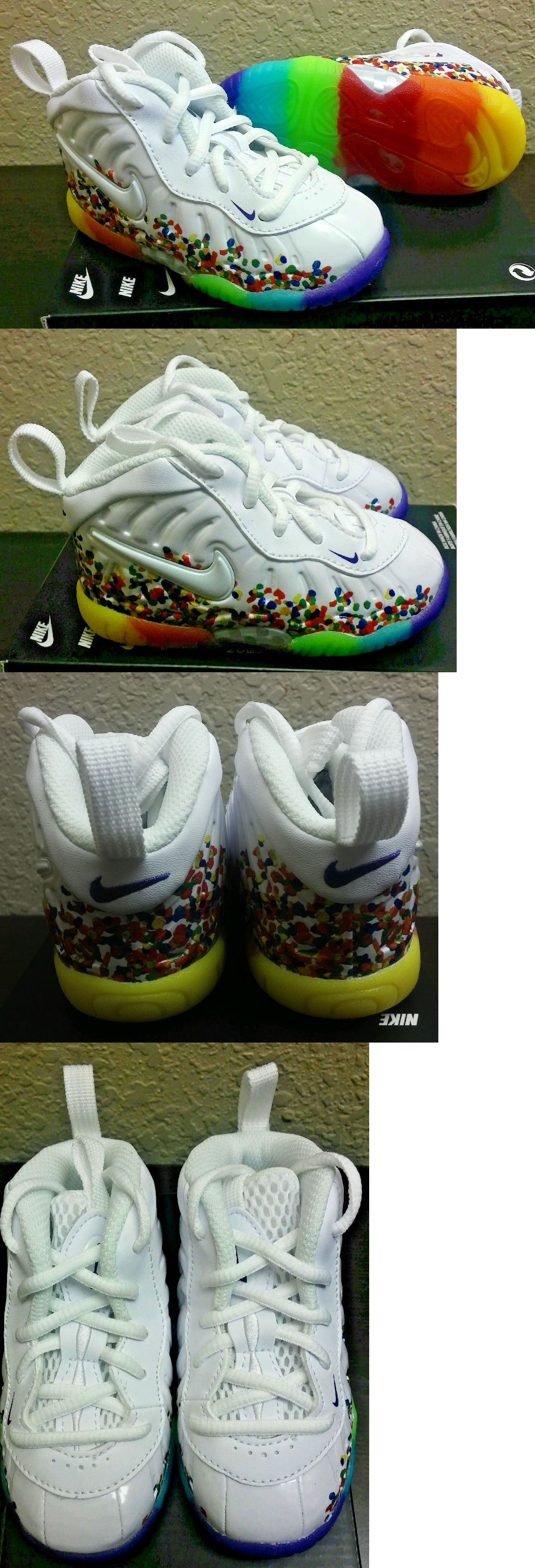 Baby Shoes 147285: Nike Little Posite Pro Fruity Pebbles White Baby Toddler  Foamposite 843769 101