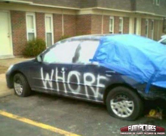 Whore In Car